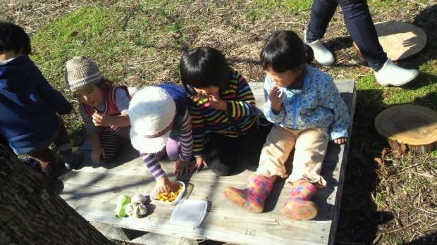 木下でおやつ、くるみっこ、岡山、美作、梶並、自主保育、保育、幼稚園、子育て、自然、遊び、プレーパーク