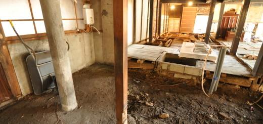 築200年の古民家、床を壊す!!|古民家再生DIY|キッチンAFTER