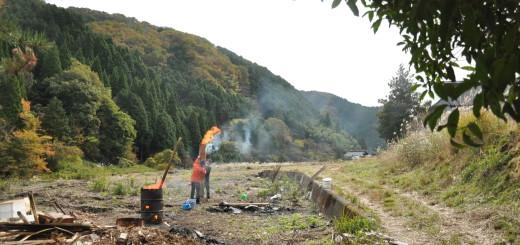 築200年の古民家、焼杉板を焼く!!|古民家再生DIY